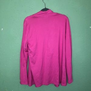 Talbots Sweaters - Talbots Pink Open Cardigan Pima Cottom Medium